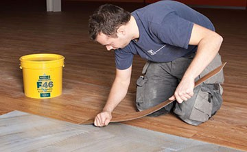 Resilient flooring Adhesives